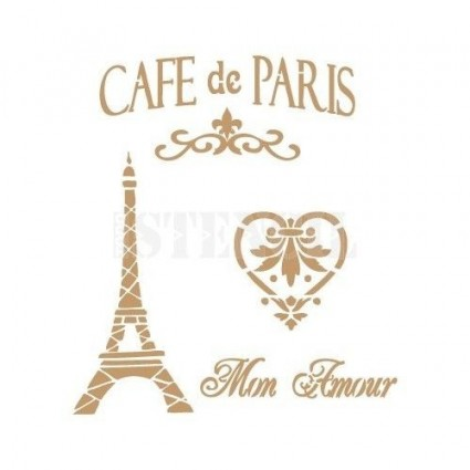 Stencil Deco Café París 001