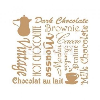 Stencil Deco Chocolate 093