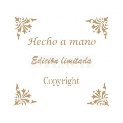 Stencil Deco Hecho a Mano 005