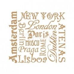 Stencil Deco Ciudades 092