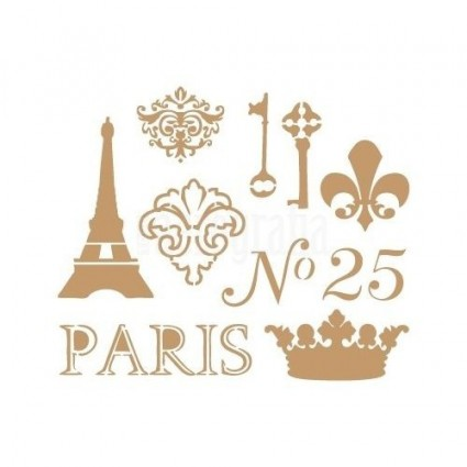 Stencil Deco Paris Keys 016