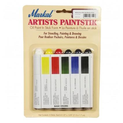 Set Pintura Markal Paintstik 6 colores