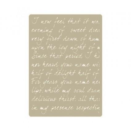 Stencil Deco Poesía Ingles 064