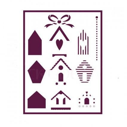 Stencil A4 casitas dos dimensiones