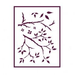 Stencil A4 ramas árboles