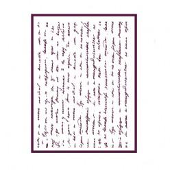 Stencil A4 manuscrito apaisado