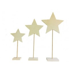trio peana estrella tres medidas