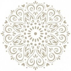 stencil mini deco mandala 30 x 30 Mary Paint