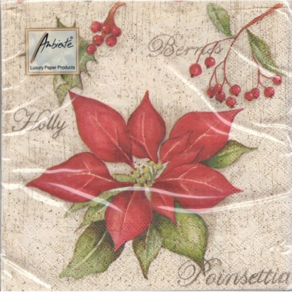Servilleta Decoupage Poinsettia