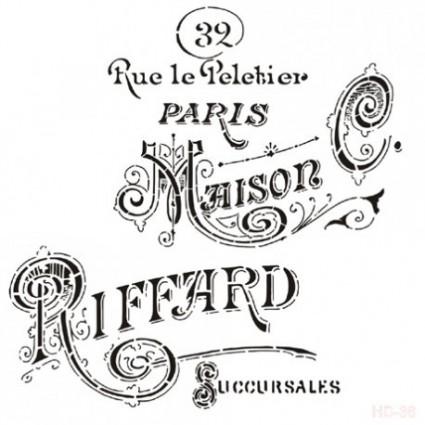 Stencil Deco Abecedario 017