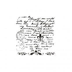 Stencil Cadence 45 x 45 Texto Vintage
