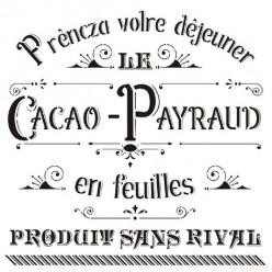 Stencil Cadence 45 x 45 Cacao Payraud