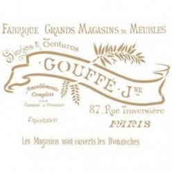 Stencil Deco Vintage 18 Goffe
