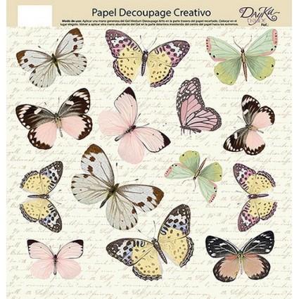 Papel Decoupage Mariposas