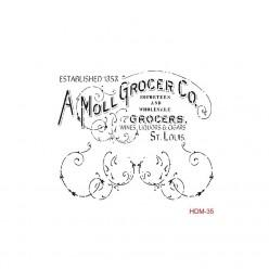 Stencil cadence 25 x 25 A Mol Grocer