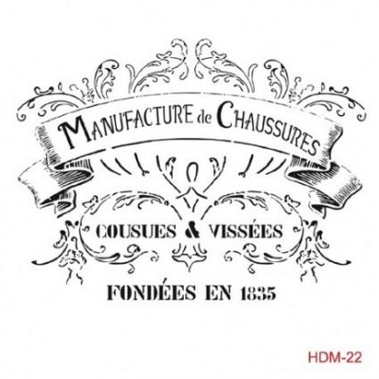 Stencil cadence 25 x 25 Manufacture de Chaussures