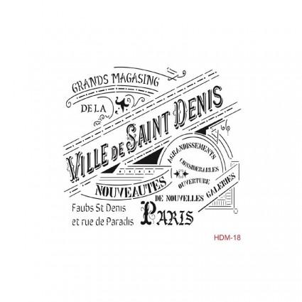 Stencil cadence 25 x 25 Ville de Saint Denis