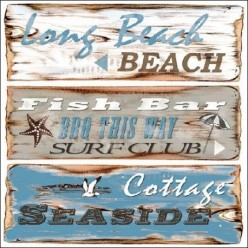 Servilleta Decoupage Beach Sing