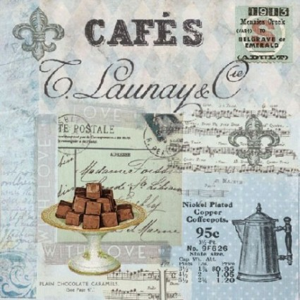Servilleta Decoupage Café Collage