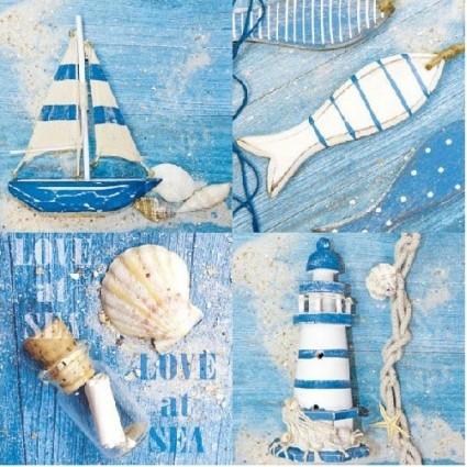 Servilleta Decoupage Love at Sea
