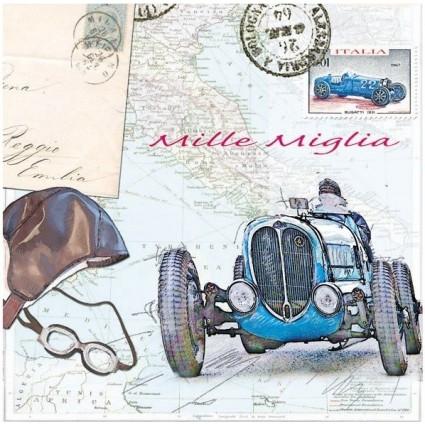 Servilleta Decoupage automóvil Mille Miglia