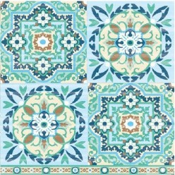 Servilleta Decoupage Tiles Green