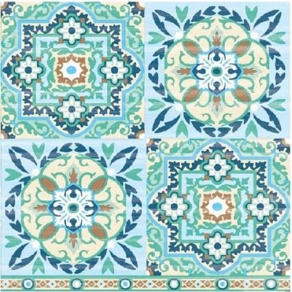 Servilleta Decoupage Tiles Green
