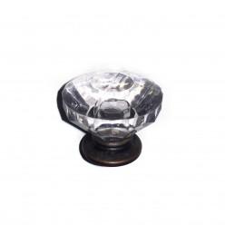 Pack de 2 Pomos vintage de cristal 2.5cm