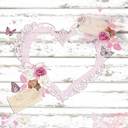 Servilleta Decoupage LOVE TAGS