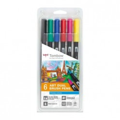 tombow set lettering 6 rotu. Colores Primarios