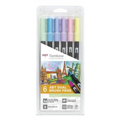 tombow set lettering 6 rotu. Colores Pastel