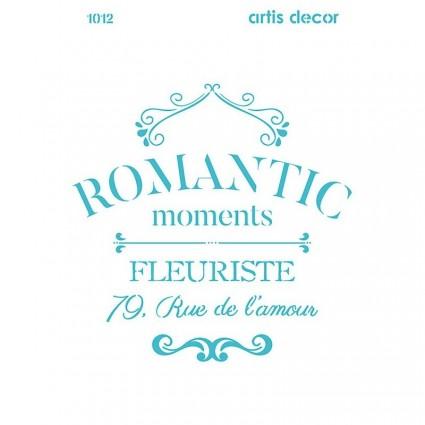 STENCIL ROMANTIC 20X28.5