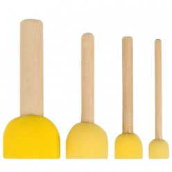 Esponja amarilla palo de madera