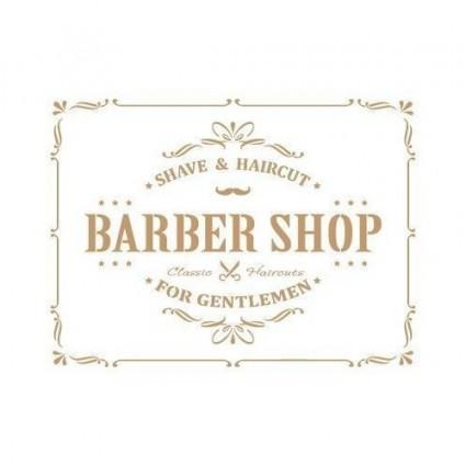 Stencil Deco Composición 196 Barber Shop 20 x 30