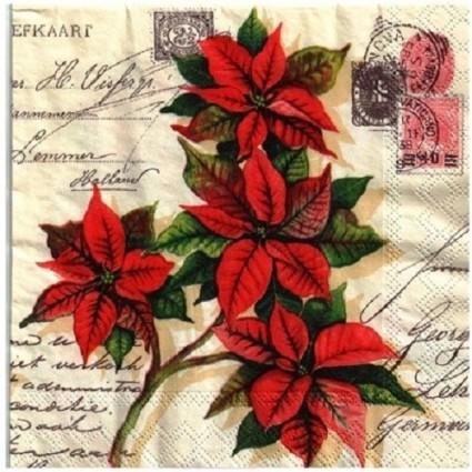 Servilleta flor de navidad