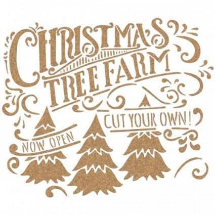 Stencil Navidad Farm
