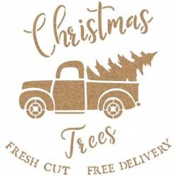 Stencil Navidad Coche Cartel