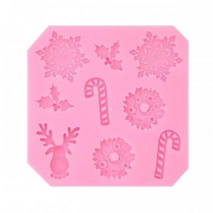 Molde silicona 011 Navidad