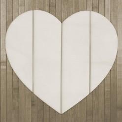 silueta soporte corazon listones (S) 20 X 20