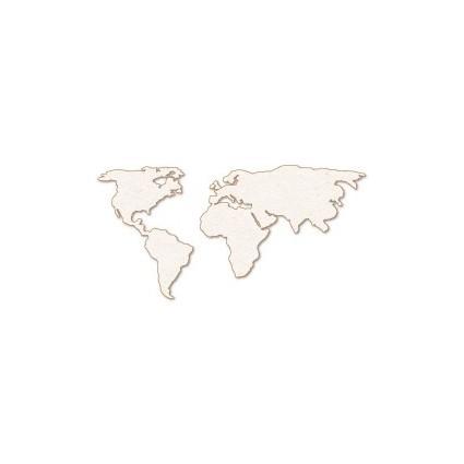 Silueta Mapa Mundi 2 piezas (L) 10x5.2cm
