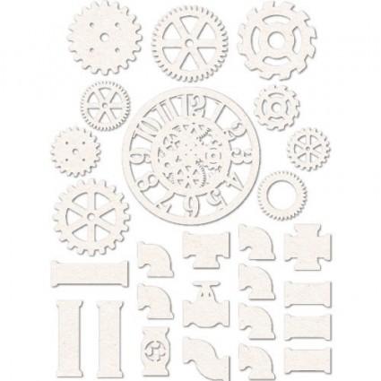 set siluetas de cartón Engranajes 15x20