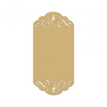 silueta placa nombre doble calado 024 (S) 4.4x9 cm