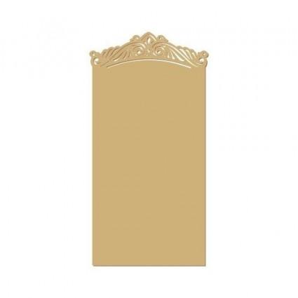 silueta placa nombre rococó 025(S) 7x11 cm