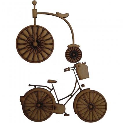 Se 2 siluetas DM bicicletas 9,3x9,7 y 9 x 12,7 cm