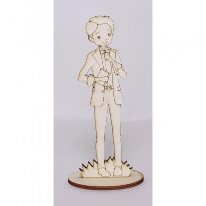 Silueta Comunión niño-2 ( pajarita) 42 cm