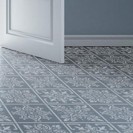 Stencil suelo azulejos, 52 x 52