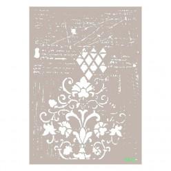 Stencil FLORES Y ROMBOS 21X30