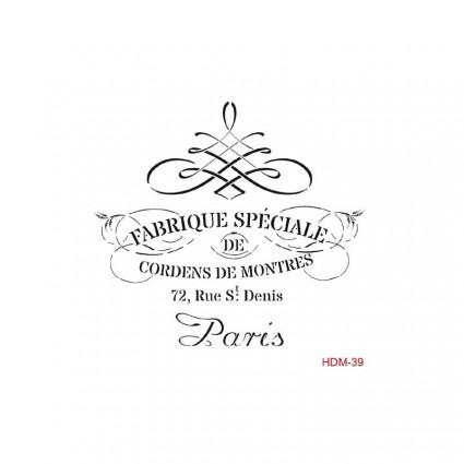 Stencil FABRIQUE ESPECIALE 25X25