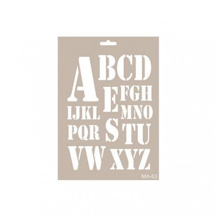 Stencil LETRAS MILITAR 21X30