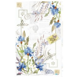 Papel de Arroz 54x33 Flowers Blue